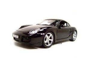 Box Damaged PORSCHE CAYMAN S BLACK 1/18 DIECAST MODEL CAR BY MAISTO 31122
