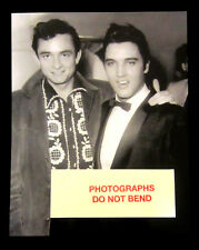 8x10 photo, Johnny Cash and Elvis rock & roll & country music stars, 1957