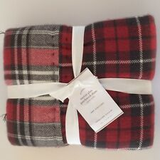 Pottery Barn EASTON PLAID PATCHWORK QUILTED EURO SHAMS-SET OF TWO-NWT