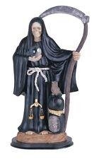 "16"" Inch Black La Santa Santisima Muerte Holy Death Grim Reaper Statue Figurine"