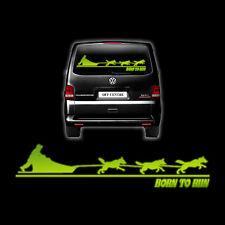 More details for siberian husky glow in the dark van decal sibes huskies sled dogs rig racing
