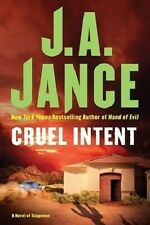 1st/1st Edition Cruel Intent by J.A. Jance (2008, Hardcover) 1416563792