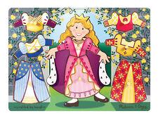 Melissa & Doug Wooden Princess Dress-Up Mix 'n Match Peg Puzzle (New) 3291