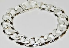 NEW Sterling Silver Men's Bracelet - Curb Link - LARGE Chunky & Heavy - 9 INCH