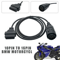 Motorcycles For BMW 10PIN TO 16PIN OBDII OBD2 DIAGNOSTIC CABLE CONVERTER ADAPTOR