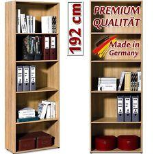 LIBRERIA SCAFFALE A PARETE CON 4 MENSOLE REGOLABILI color legno H. 192 CM