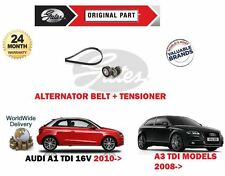 FOR AUDI A1 A3 1.6 TDi 2.0 TDi 16V NEW ALTERNATOR FAN BELT + TENSIONER KIT