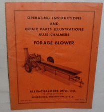 ALLIS-CHALMERS FORAGE BLOWER TM-34A INSTRUCTION OPERATE REPAIR PARTS MANUAL V-GD