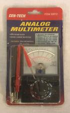 Nip Cen Tech Analog Multimeter Item 30812 New