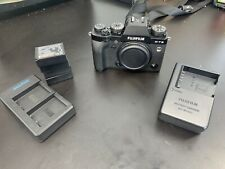 Fujifilm Black X-T3 26.1MP Mirrorless Digital Camera W/ 4 Batteries