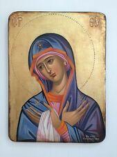 Panagia-Mother of God - handpainted Greek Christian Orthodox byzantine icon 05