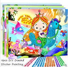10pcs DIY Acrylic Rhinestone Stickers Self-adhesive Drawing Kids Crafts Cartoon