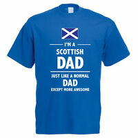 SCOTTISH DAD - Scotland / Father / Daddy / Fun / Gift Idea Themed Mens T-Shirt