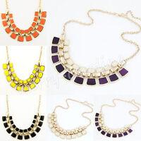 New Fashion Charm Jewelry Crystal Choker Chunky Statement Bib Pendant Necklace
