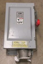 SIEMENS HF362JPN 60 A FUSIBLE SAFETY DISCONNECT SWITCH W/ JRC-460-INT-12 OUTLET