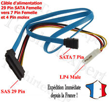 7 Pin SATA Serial ATA to SAS 29 Pin & 4 Pin Cable Male Connector Adapter H9