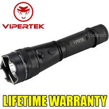 VIPERTEK VTS-195 Metal Police 900 MV Stun Gun Tactical Rechargeable LED Light