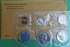 1960 United States 5 Coin Silver Proof Set with Franklin Half with Envelope