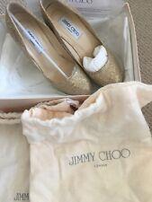 Jimmy Choo 'Cosmic' Stiletto Court Heels Pumps Gold Glitter Size Uk 5 Eu 38