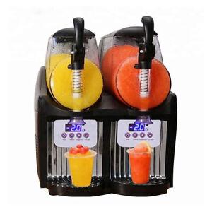 Kolice 2x2.5L tanks Small Slush Machine, household mini ice slushy machine