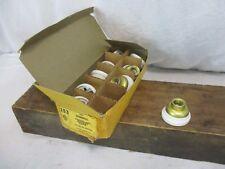 "Antique Vintage Hubbell Porcelain light socket caps 3/8"" brass lamp NOS A&H"