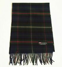 Men's 100% CASHMERE SCARF Plaid Forest Navy Black red camel Scotland Wool Wrap