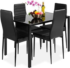 5-Piece Kitchen Dining Table Set for Dining Room, Kitchen, Dinette, Compact Spac