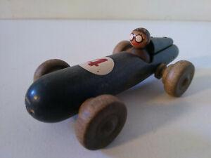 Clairbois voiture Fomule 1 en bois avec pilote N°4 1/43