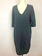 Lacoste Women's Dress Tunic Black sparkly v neck short sleeve sweater Size Small