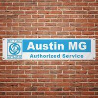 British Leyland Austin MG Banner Garage Workshop PVC Sign Trackside Display