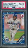 PSA 10 WANDER FRANCO 2019 Topps Bowman Holiday BLUE FESTIVE #/150 RC GEM MINT