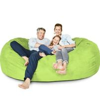 BIG FRANK Living room Home decor Furniture LIGHT GREEN 7 ft Bean bag :COVER ONLY