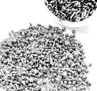 1 LB Stainless Steel Tumbling Media Shot Jewelers Mix 5 Shapes Tumbler Finishing