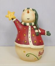 New Blossom Bucket #80085A COZY snowman with a star on top and baby snowman