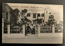 Mint Vintage German Club House Barranquilla Columbia Real Picture Postcard