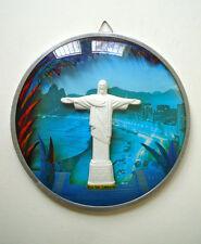 Brazil Modern Rio De Janeiro Vintage Wall Hanging Christ Redeemer Art Souvenir