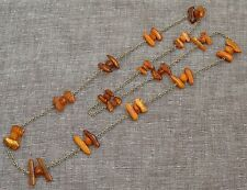Antique Natural Egg Yolk Butterscotch Baltic amber necklace, 42,3 grams