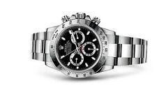 Runde Rolex Armbanduhren mit Datumsanzeige