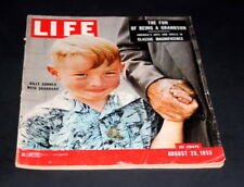 LIFE MAGAZINE AUGUST 29 1955 BILLY CONNER WITH GRAND DAD