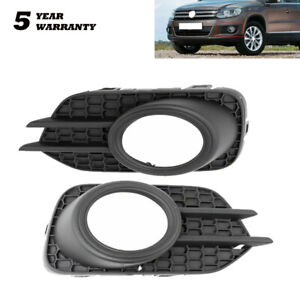 Front Driving Light Fog Lamp Bezel Cover Left Right Pair For 2012-2018 VW Tiguan