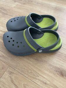 CROCS Grey Green Style Size AU Mens 4 Womens 6