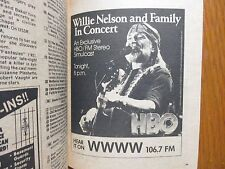 April 10, 1983 Detroit News Television Mag(WILLIE NELSON/THE ACADEMY AWARDS/E.T.
