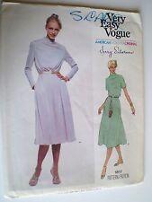 Pattern Dress Vogue American Designer #1817 Jerry Silverman Size 10 Unfolded