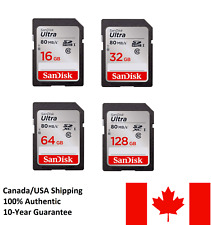 SanDisk SD Card 80MB/S High Speed Class10 UHS-1 Camera Memory Card SDHC SDXC