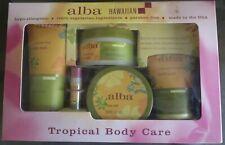 ALBA BOTANICA Spa Set: Body Cream, Body Wash, Lip Balm, Facial Scrub, Body Scrub