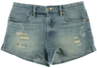 NEW Womens Juicy Couture Clyde Wash Sequin Patches Denim Shorts Size 28 AU 10