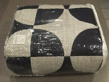 New 6pc Pottery Barn Navy Circles Patchwork King Quilt w 5 Shams Spring Summer