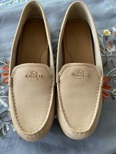 Coach Loafers Sz 9 Beige Leather NWOB