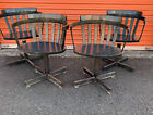 Set Of 4 Genuine EDSBY VERKEN Swivel Chair Vintage Blue Stain