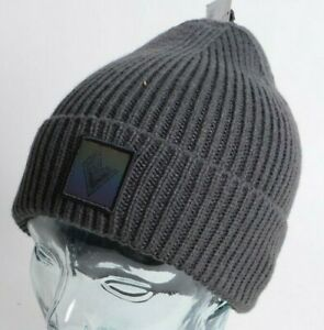 2021 NWT VOLCOM VOLCOM STONE BEANIE $34 OS Dark Grey standard roll over fit